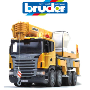 BRUDER 1:16 SCANIA CRANE TRUCK W/LIGHTS