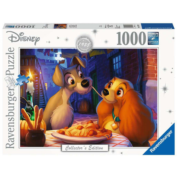 PUZZLE 1000PC DISNEY LADY & TRAMP MOMENT