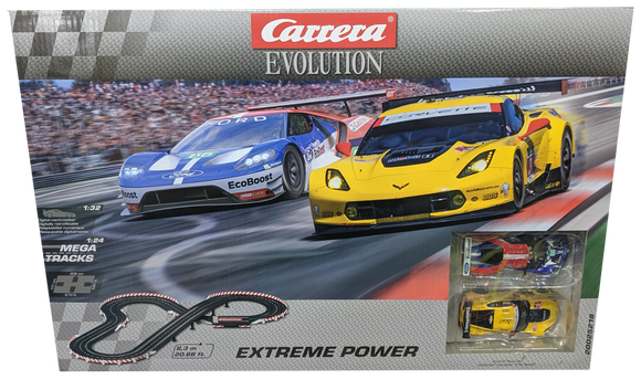 CARRERA EVO EXTREME POWER SLOT CAR SET