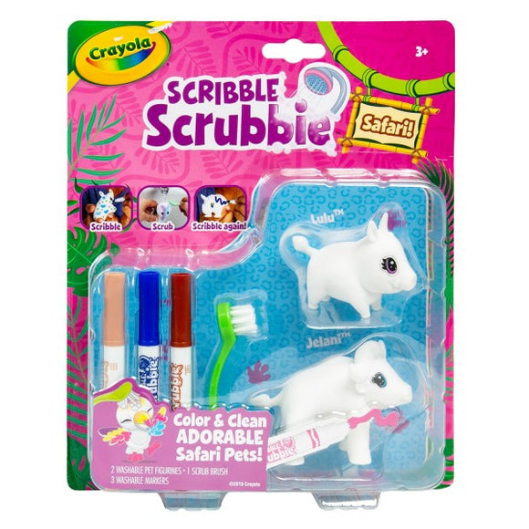 CRAYOLA SCRUBBIES WARTHOG/BUFFALO