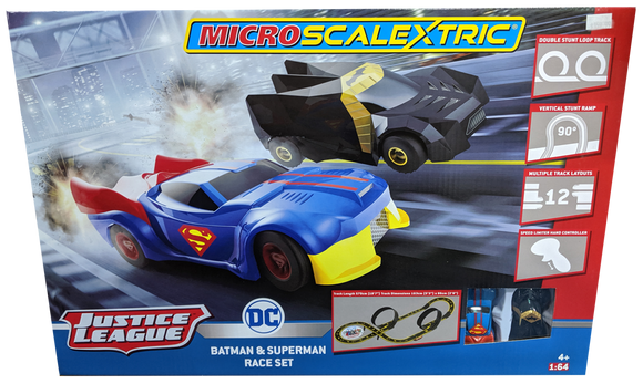 SCALEXTRIC MICRO JUSTICE LEAGUE RACE SET