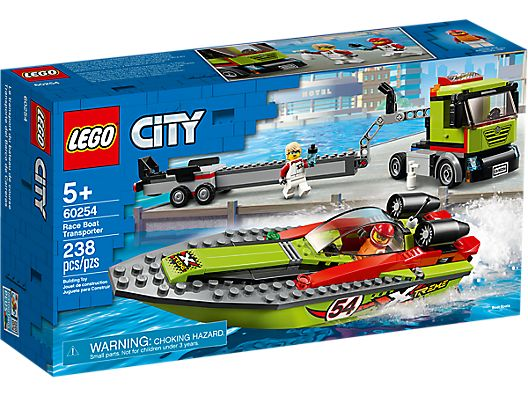 LEGO 60254 CITY RACE BOAT TRANSPORTER