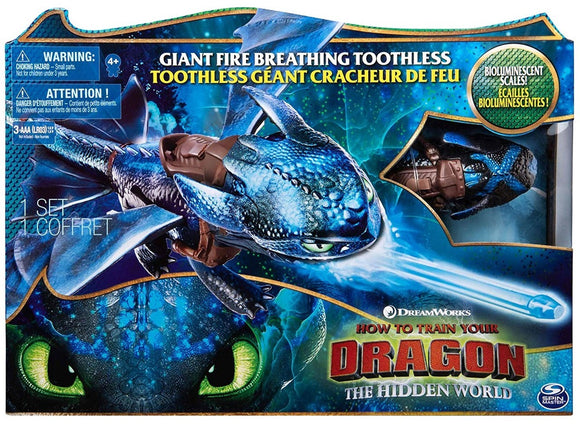 DRAGONS 3 GIANT FIRE BREATHING TOOTHLESS