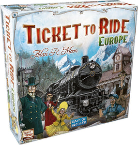 GAME TICKET TO RIDE EUROPE