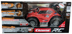 CARRERA R/C 1:18 VW BEETLE RED OFF ROAD