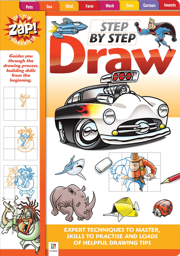 BOOK ZAP STEP BY STEP DRAW ASSTD