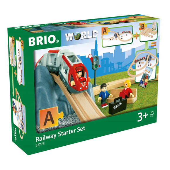 BRIO RAILWAY STARTER SET 26 PC