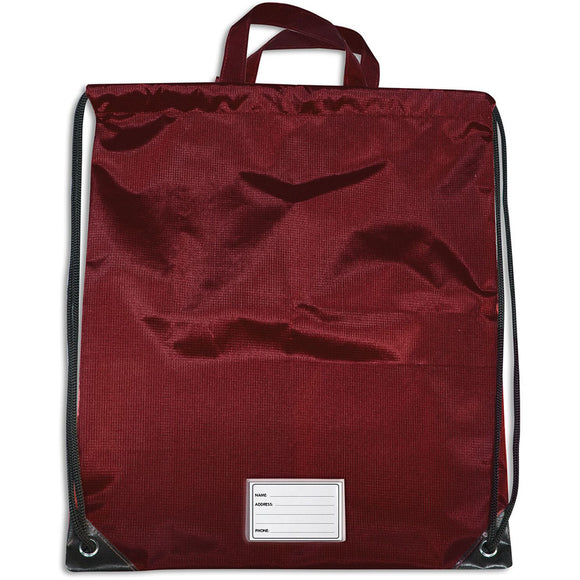 MULTI PURPOSE BAG DRAWSTRING DARK RED