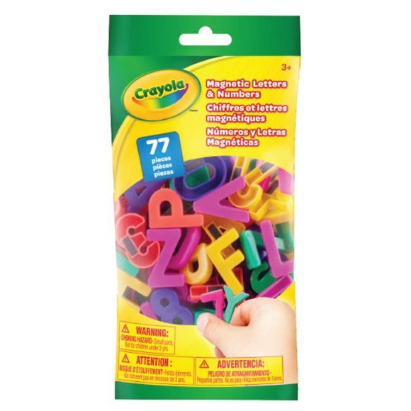 CRAYOLA 77PC LETTERS & NUMBERS MAGNETIC