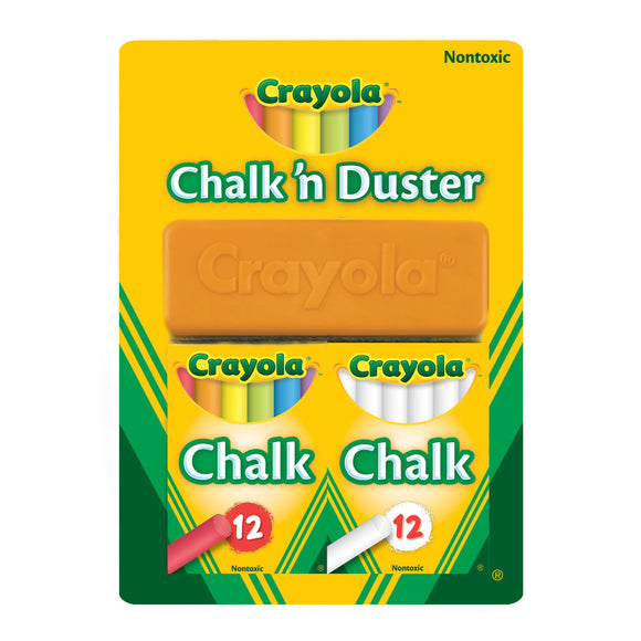 CRAYOLA CHALK N DUSTER BLISTER PACK