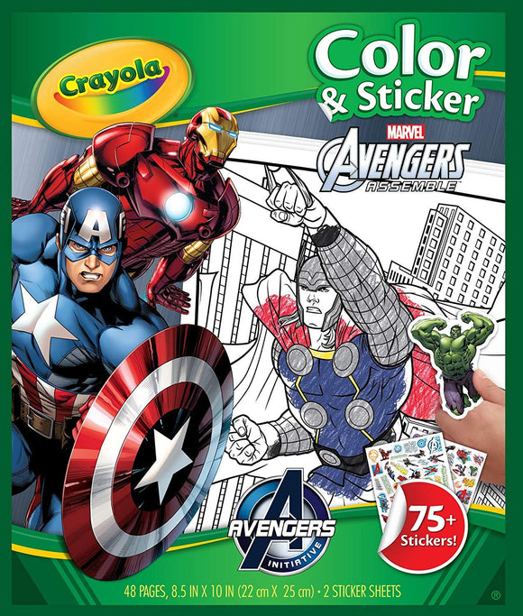 CRAYOLA COLOR & STICKER BOOK AVENGERS
