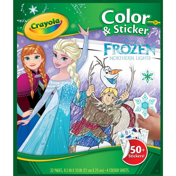 CRAYOLA COLOR & STICKER BOOK FROZEN NEW