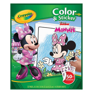 CRAYOLA COLOR & STICKER BOOK MINNIE MOUS