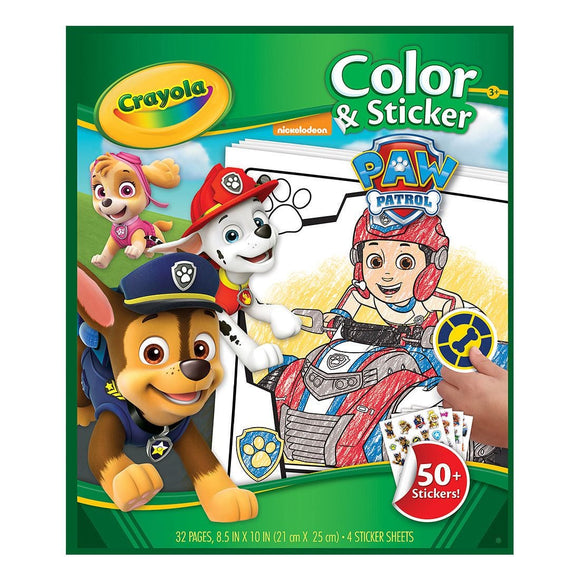 CRAYOLA COLOR & STICKER BOOK PAW PATROL
