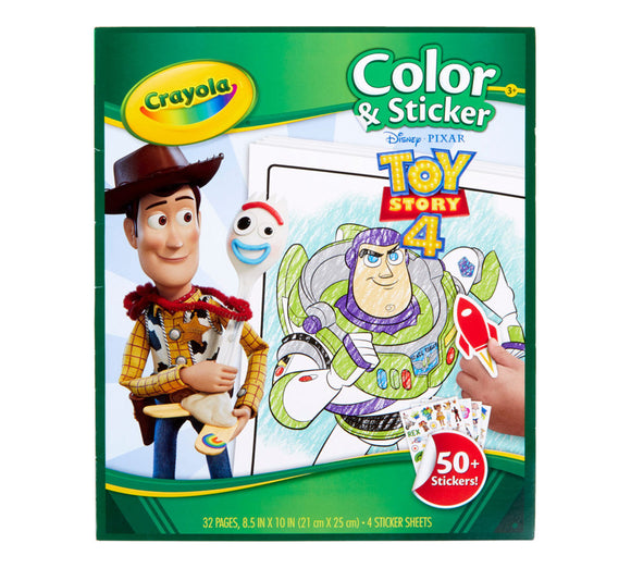 CRAYOLA COLOR & STICKER BOOK TOY STORY 4