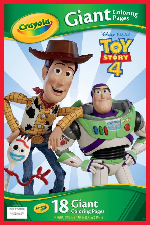 CRAYOLA GIANT COLOR PAGES TOY STORY 4
