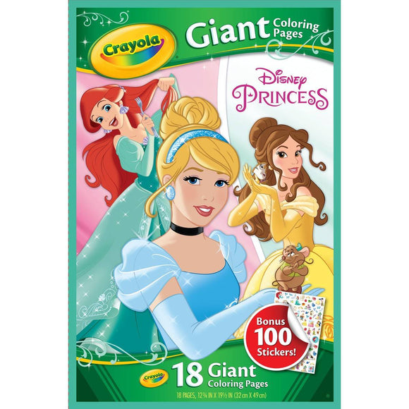 CRAYOLA GIANT COLOR PAGES DISNEY PRINCES