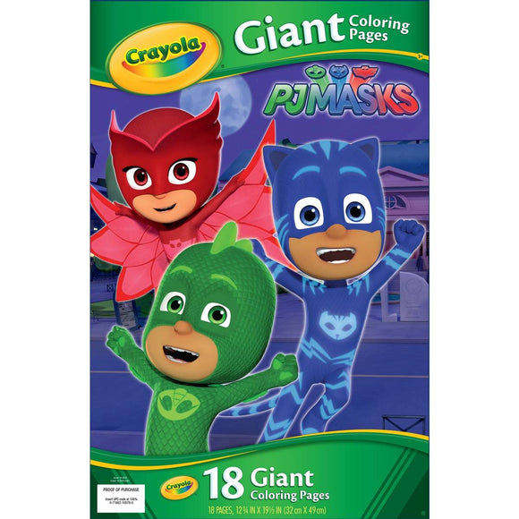 CRAYOLA GIANT COLOR PAGES PJ MASKS