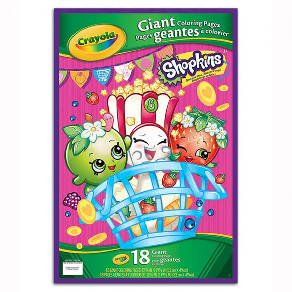 CRAYOLA GIANT COLOR PAGES SHOPKINS