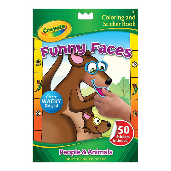 CRAYOLA BOOK COLOR FUNNY FACES PEOPLE