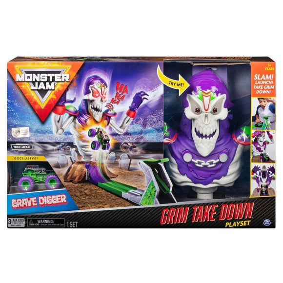 MONSTER JAM GRIM TAKEDOWN PLAYSET