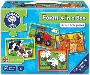ORCHARD TOYS FARM 4 IN A BOX PUZZLE