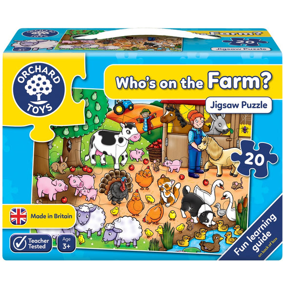 ORCHARD TOYS WHOS ON THE FARM PUZZLE