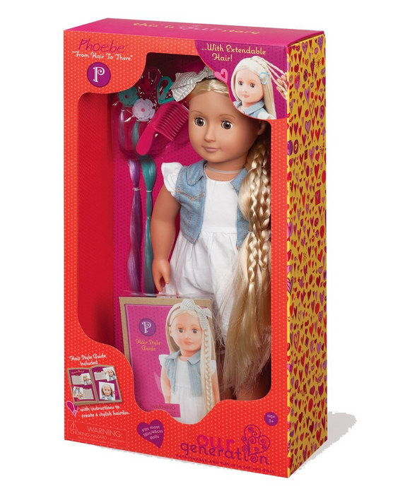 OUR GENERATION PHOEBE HAIR GROW DLX DOLL