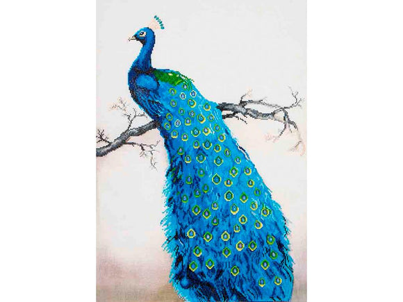 DIAMOND DOTZ BLUE PEACOCK