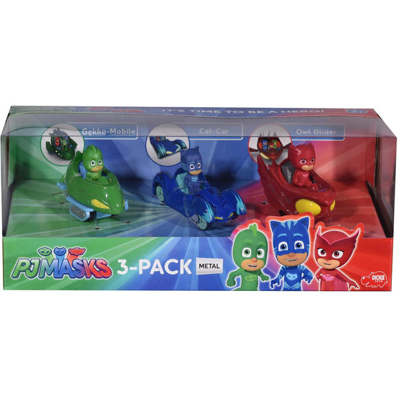 PJ MASK DIECAST VEHICLES 3PK
