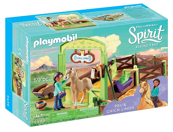 PLAYMOBIL SPIRIT HORSE STABLE & PRU/CHIC