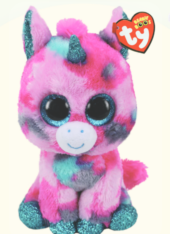 BEANIE BOOS MED GUMBALL PINK UNICORN