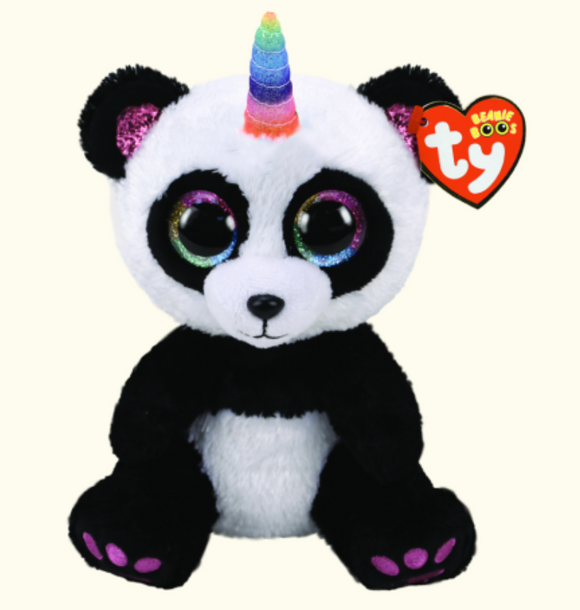 BEANIE BOOS MED PARIS PANDA WITH HORN