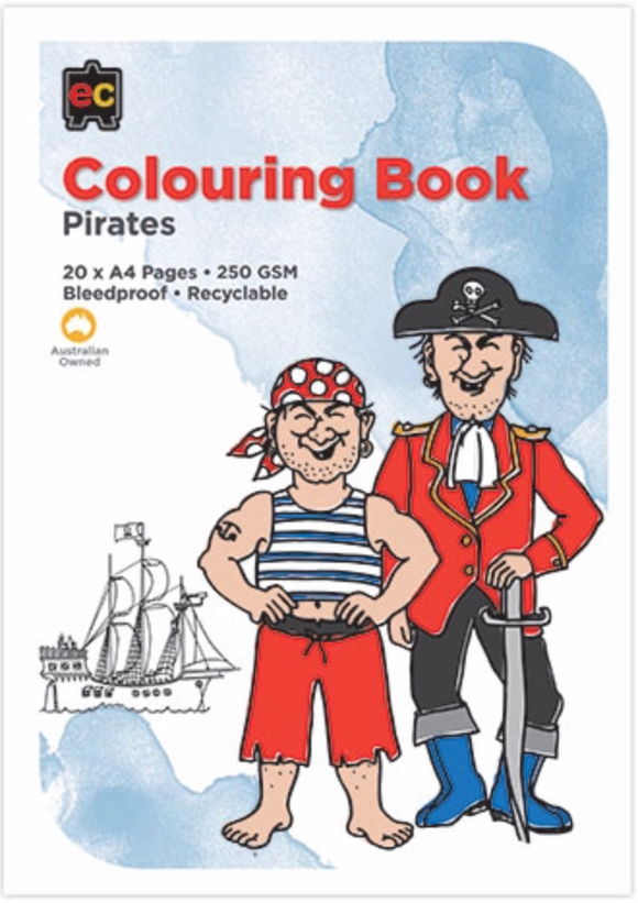 COLORING BOOK PIRATES