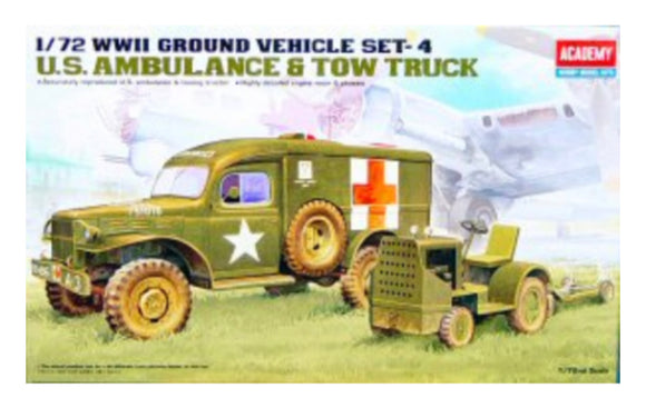 ACADEMY 1:71 US AMBULANCE & TOW TRACTOR
