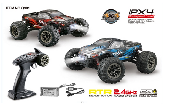 R/C 1:16 4WD BRUSHLESS TORNADO RED