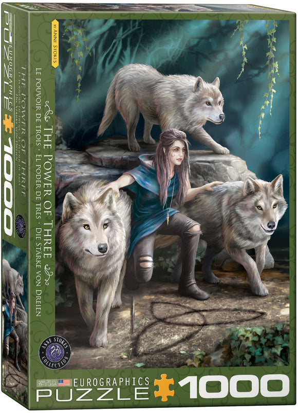 PUZZLE 1000PC ANNE STOKES POWER OF THREE
