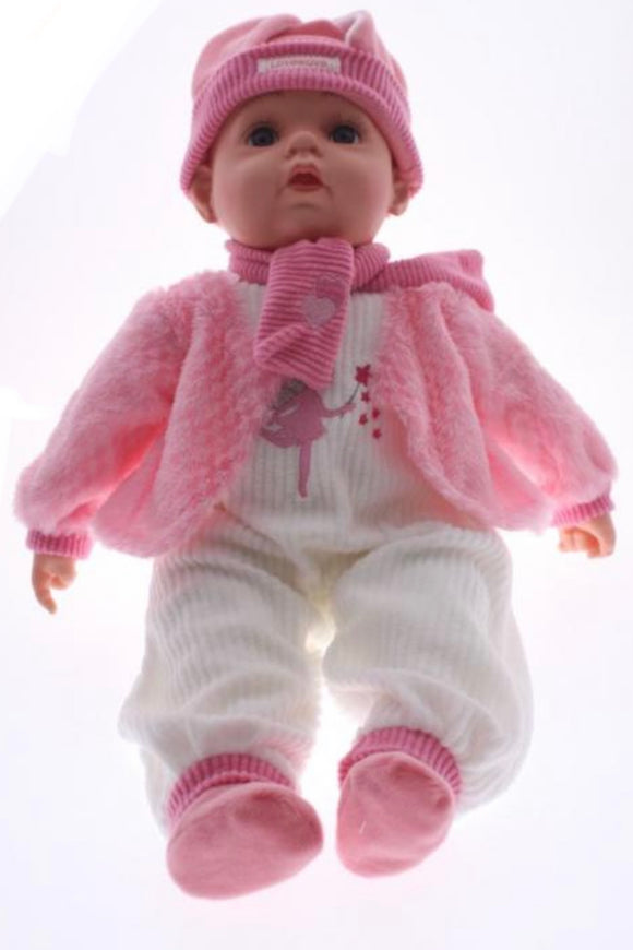 BABY DOLL CHLOE PINK JACKET WHITE PANTS