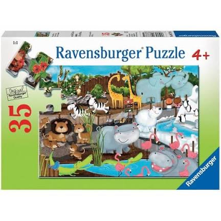 PUZZLE 35PC DAY AT THE ZOO