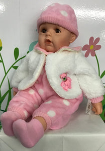 DOLL COTTON CANDY OLIVIA PINK/WHITE COAT