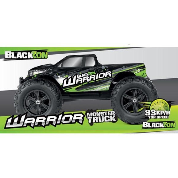 R/C 2WD BLACKZON WARRIOR MONSTER TRUCK