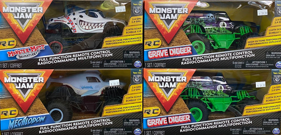 R/C 1:24 MONSTER JAM TRUCKS ASTD
