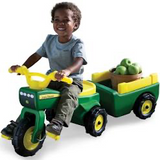 JD TRIKE AND WAGON RIDE ON