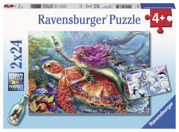 PUZZLE 2X24PC MERMAID ADVENTURES