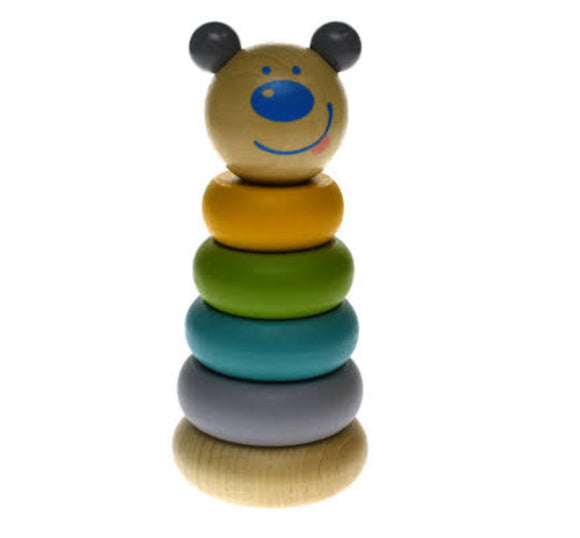 WOODEN ANIMAL STACKING BLOCKS BABY
