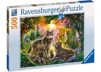 PUZZLE 500PC WOLF FAMILY IN SUNSHINE