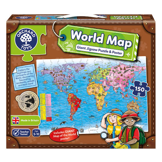 ORCHARD TOYS PUZZLE GIANT WORLD MAP
