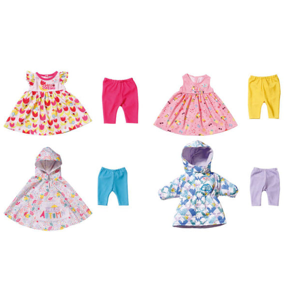 BB BABY BORN 4 SEASONAL OUTFIT SET 43CM
