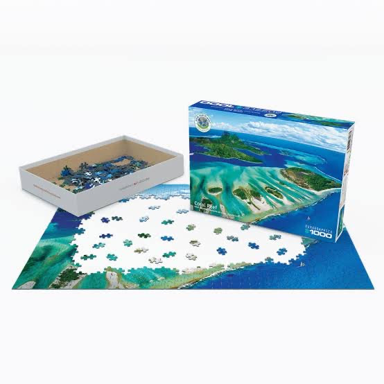 PUZZLE 1000PC CORAL REEF