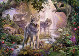 PUZZLE 1000PC SUMMER WOLVES